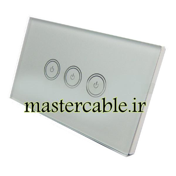 کلید لمسی کولری سه پل خانه هوشمند S903-A1P3 با ابعاد 36×72×120