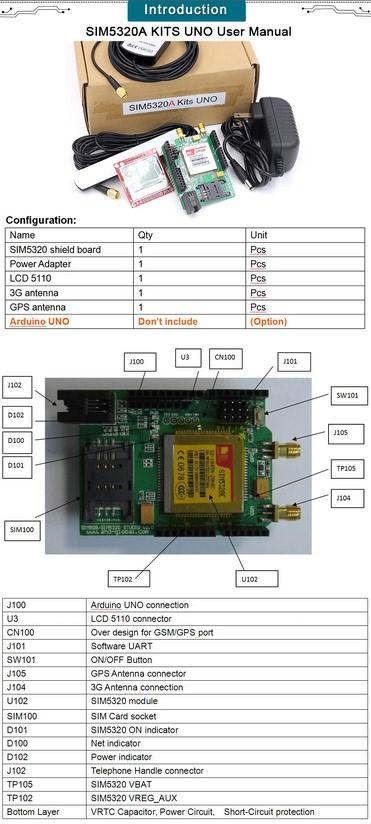 شیلد 3G SIM5320 SHIELD UNO