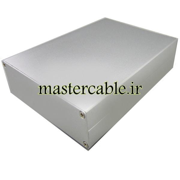 جعبه رومیزی آلومینیومی مخابراتی-الکترونیکی ABL424-A1 با ابعاد 33×114×150
