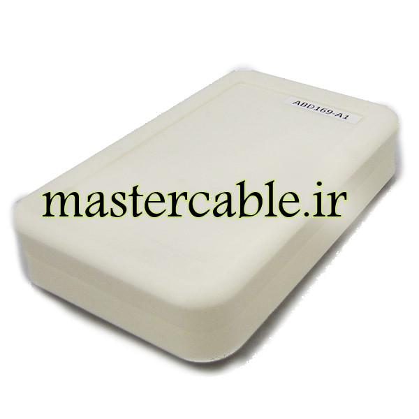 باکس پلاستیکی تجهیزات الکترونیکی رومیزی ABD169-A1 با ابعاد 27×79×123