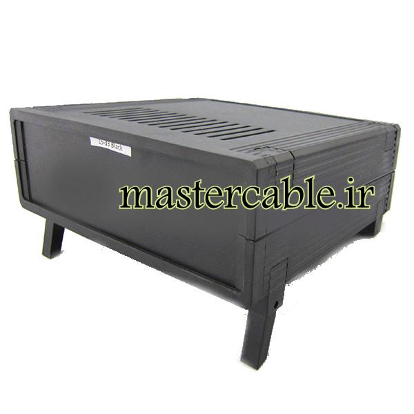 باکس پلاستیکی تجهیزات الکترونیکی رومیزی 33-15 Black با ابعاد 72×199×225