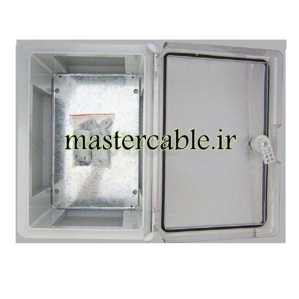 جعبه ضدآب تابلویی قفل دار شفاف TW702-A1T با ابعاد 150×250×350