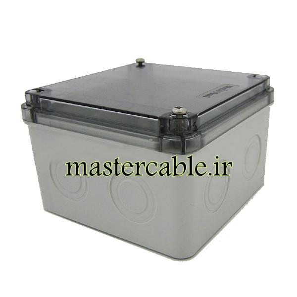 جعبه تقسیم ضدآب شفاف الکترونیکی AGT 11-11 T با ابعاد 65×110×110